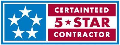 Certainteed 5 Star Contractor badge.