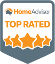 Home Advisor top rated badge.